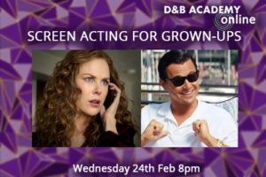 Screen Acting For Grown-Ups