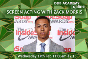 Screen Acting Workshop  with Zack Morris